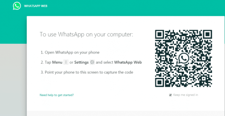 Scanning the barcode to use Whatsapp on your computer