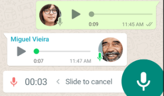 Short voice messages for easier connection